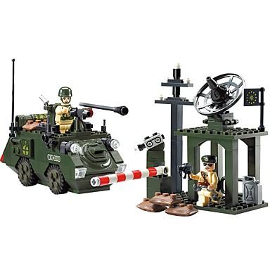 ENLIGHTEN Τουβλάκια Στρατιωτικά μπλοκ Κατασκευασμένα Παιχνίδια 187 pcs Πολεμιστής Άνθρωποι Στρατιωτικό Τανκ συμβατό Legoing Non Toxic Κλασσικό Τανκ Αγορίστικα Κοριτσίστικα Παιχνίδια Δώρο