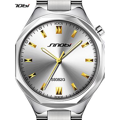 levne Pánské-SINOBI Pánské Náramkové hodinky japonština Křemenný Velkoformátové Stříbro 30 m Voděodolné Velký ciferník Analogové Luxus Minimalistické - Stříbrná Dva roky Životnost baterie