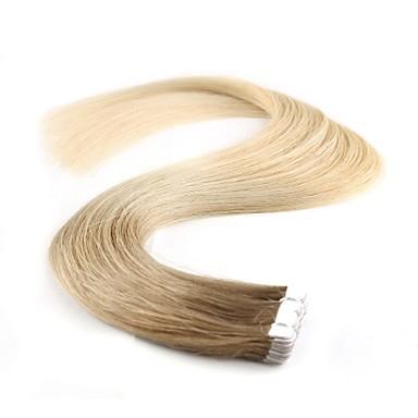 levne Příčesky z pravých vlasů-Neitsi Lepící Rozšíření lidský vlas Klasický Přírodní vlasy Příčesky z pravých vlasů 1pack Dámské Béžová Blonde / Bleached Blonde