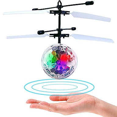 cheap Outdoor Fun & Sports-Mini Magic Flying Ball Flying Gadget Plane / Aircraft Helicopter Gift Glow in the Dark LED Plastic Boys' Girls' Toy Gift / Fluorescent / with Infrared Sensor