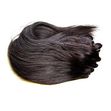 Αγνή Τρίχα Υφάδι / ύφανση μαλλιά Για μαύρες γυναίκες / 100% παρθένα / Αμεταποίητος Ίσιο / Κλασσικά Βραζιλιάνικη / Πακέτα 10 ίντσες / 12 εκ / 14 εκ 400 g 12 μήνες Καθημερινή Ένδυση