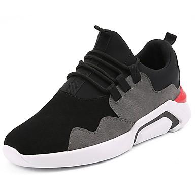 Hombre Zapatos deporte PU Verano Confort Zapatillas de deporte Zapatos Gris / Negro 051b50