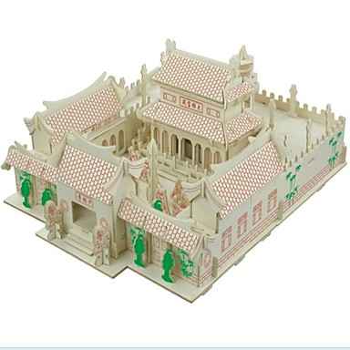 levne 3D puzzle-3D puzzle Puzzle Dřevěný model Modele domky Móda Dům Chrám Shaolin Klasické Módní Nový design Děti Žhavá sleva Dřevo 1pcs Módní a moderní