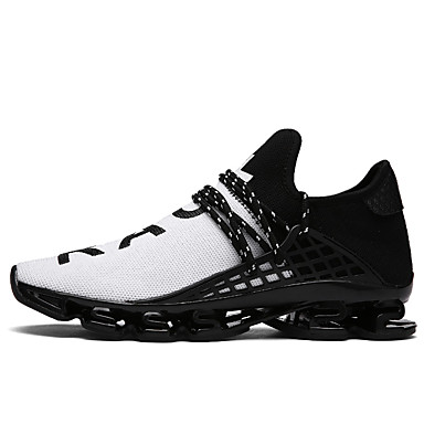 cheap Top Selling-Men's Comfort Shoes Tulle Spring / Summer Sneakers Walking Shoes Black / Black / White / Black / Red / EU40