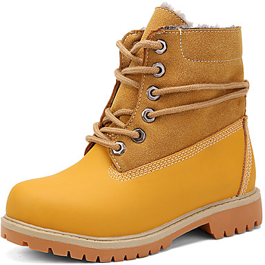 Κοριτσίστικα Μπότες Χιονιού / Μπότες Μάχης Δέρμα Μπότες Διαφορετικά Υφάσματα Μαύρο / Καφέ / Κόκκινο Χειμώνας / Μποτίνια / TPR (Θερμοπλαστικό Καοτσούκ)
