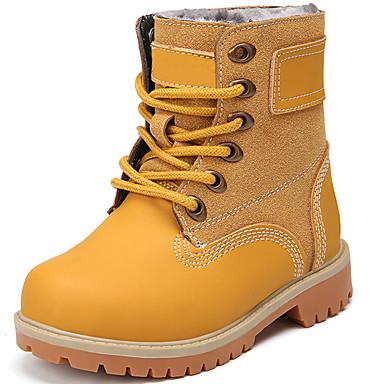 Κοριτσίστικα Μπότες Χιονιού / Μπότες Μάχης Δέρμα Μπότες Διαφορετικά Υφάσματα Μαύρο / Καφέ / Μπλε Φθινόπωρο / Χειμώνας / Μποτίνια / TPR (Θερμοπλαστικό Καοτσούκ)