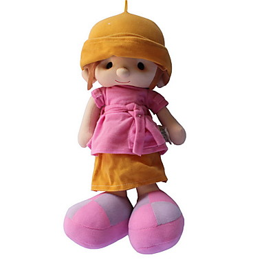 Κορίτσι κορίτσι Βελούδινη κούκλα Μωρά Κορίτσια 14 inch Χαριτωμένο Για παιδιά Μαλακό Ασφαλής για παιδιά Διακοσμητικό Non Toxic Παιδικά Κοριτσίστικα Παιχνίδια Δώρο / Μεγάλο Μέγεθος / Lovely
