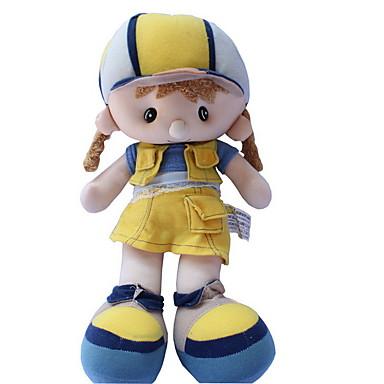 Κορίτσι κορίτσι Βελούδινη κούκλα 14 inch Χαριτωμένο Για παιδιά Μαλακό Ασφαλής για παιδιά Διακοσμητικό Non Toxic Παιδικά Κοριτσίστικα Παιχνίδια Δώρο / Μεγάλο Μέγεθος / Lovely