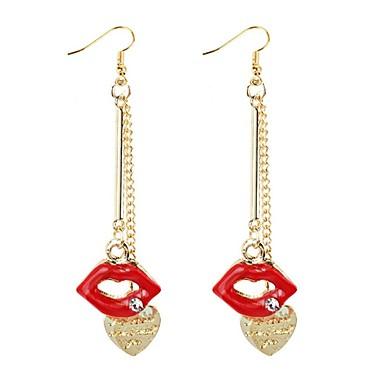 levne Dámské šperky-Dámské Visací náušnice Pusa Klasické Módní Umělé diamanty Náušnice Šperky Zlatá Pro Denní