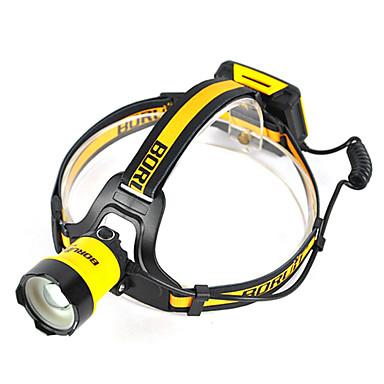 Boruit® B16 Φακοί Κεφαλιού 400 lm LED LED 1 Εκτοξευτές 3 τρόπος φωτισμού Επαγγελματικό Ρυθμιζόμενο Κατασκήνωση / Πεζοπορία / Εξερεύνηση Σπηλαίων Καθημερινή Χρήση Αστυνομία / Στρατός Κίτρινο