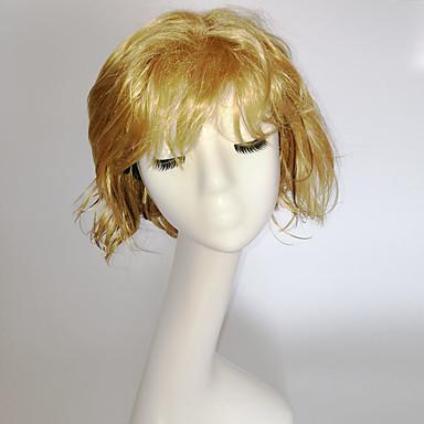 Συνθετικές Περούκες Σγουρά Φυσικό Κυματιστό Φυσικό Κυματιστό Ασύμμετρο κούρεμα Με αφέλειες Περούκα Ξανθό Κοντό Ξανθό Συνθετικά μαλλιά Γυναικεία Μαλλιά μπαλαγιάζ Φυσική γραμμή των μαλλιών Ξανθό