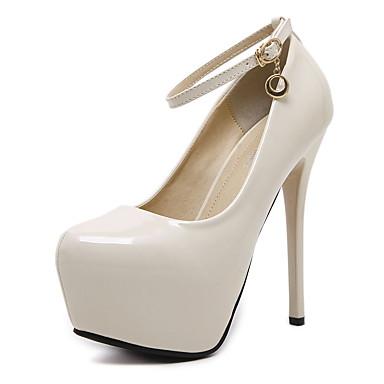Mujer Zapatos Semicuero Primavera / Otoño Confort / Pump Básico Tacones Tacón Stiletto Dedo redondo Negro / Boda / Fiesta y Noche wAJ33xW0la