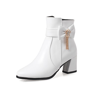 Tacón Mujer Moda De Zapatos Invierno Stiletto Vellón Botas BYBfOw