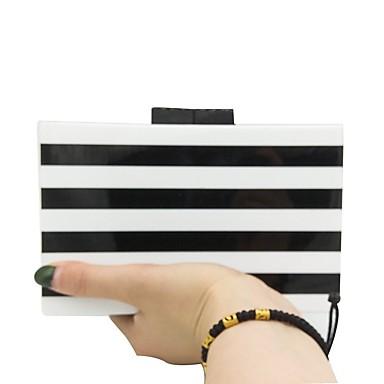 Γυναικεία Τσάντες PVC Βραδινή τσάντα Σχέδιο / Στάμπα Μαύρο / Άσπρο