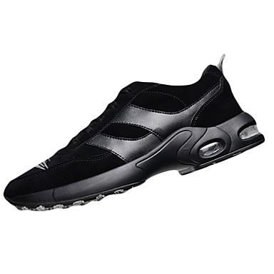 Hombre Zapatos PU Primavera Confort Zapatillas de deporte Negro / Caqui Bi1Ne8zb