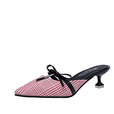 Women S Shoes Fabric Summer Comfort Sandals Slippers Flip Flops Walking Stiletto Heel Pointed Toe Bowknot For Casual Black Red 5824001 2018 11 99