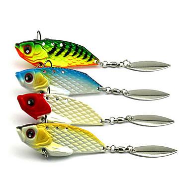 4 pcs Atrăgătoare Pescuit Σκληρό Δόλωμα Βυθιζόμενο Bass Τρώκτης Λούτσος Θαλάσσιο Ψάρεμα Ψάρεμα με Μύγα Δολώματα πετονιάς Μεταλλικό / Περιστρεφόμενο / Jigging Fishing / Ψάρεμα Γλυκού Νερού