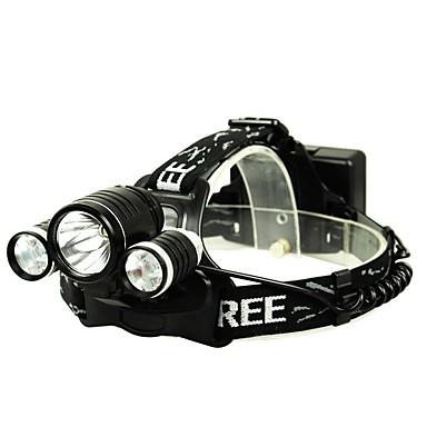 Φακοί Κεφαλιού Εκτοξευτές Για Υπαίθρια Χρήση Περιλαμβάνεται λαμπτήρας Αναλαμπή Φωτισμός LED Φωτιστικά Κατασκήνωση & Πεζοπορία Κατασκήνωση / Πεζοπορία / Εξερεύνηση Σπηλαίων Μαύρο