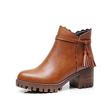 Mujer Zapatos Zapatos Mujer PU microfibra sintético Invierno Forro de piel Botas de86cf
