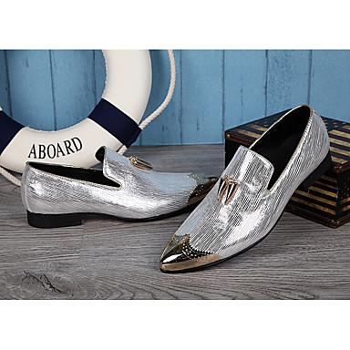 billige Oxfordsko til herrer-Herre Novelty Shoes Syntetisk Vår / Sommer Britisk Oxfords Gull / Sølv / Bryllup / Fest / aften / Fest / aften / Komfort Sko