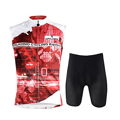 ILPALADINO Ανδρικά Αμάνικο Φανέλα και σορτς ποδηλασίας Σκούρο Ροζ Ουράνιο Τόξο Ποδήλατο Γιλέκο Σορτσάκια με Μαξιλαράκια Ρούχα σύνολα 3D Pad Γρήγορο Στέγνωμα Αθλητισμός Λίκρα Ουράνιο Τόξο / Ελαστικό