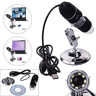 billige Test-, måle- og inspeksjonsverktøy-elektronmikroskop 40x ~ 1000x høy kvalitet manuell fokus fra 3mm til 40mm