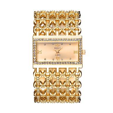 povoljno Ženski satovi-Žene Luxury Watches Ručni satovi s mehanizmom za navijanje Zlatni sat Kvarc Srebro / Zlatna / Rose Gold Hollow graviranje imitacija Diamond Analog Luksuz Ležerne prilike Okrugla Moda Sat uz haljinu -
