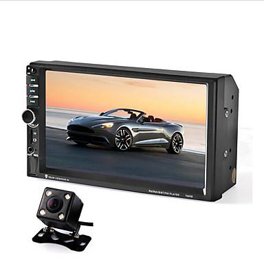 billige Bil Elektronikk-7 tommers 2 din bilstereo stereo mp5 spiller fjernkontroll med bakside kamera innebygd bluetooth / berøringsskjerm for universell