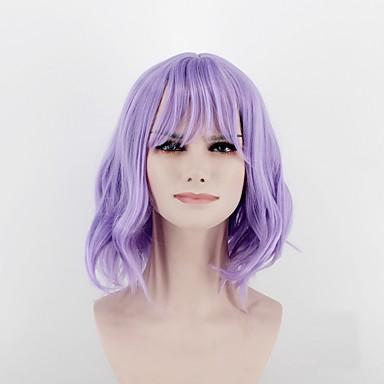 Συνθετικές Περούκες Σγουρά Σγουρά Περούκα Μεσαίο Φωτεινό Μωβ Συνθετικά μαλλιά Γυναικεία Στη μέση Μωβ