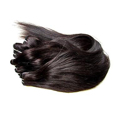 povoljno Ekstenzije za kosu-Virgin kosa tkati kose / Remy umeci od ljudske kose Za crnkinje / 100% Djevica / neprerađenih Ravan kroj / Klasika Brazilska kosa / Skupovi 300 g 1 godina / 12 mjeseci Svakodnevica