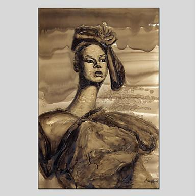 Hang målad oljemålning HANDMÅLAD - Människor Moderna Duk 6396163 2018 –   57.99 61515944cf9be