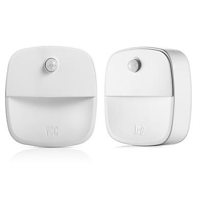 2pçs Smart Night Light Baterias AAA Alimentadas Sensor infravermelho / Sensor do corpo humano <5 V