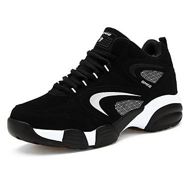 baratos Sapatos Esportivos Masculinos-Homens Sapatos Confortáveis Primavera / Outono Ao ar livre Tênis Basquete Pele Nobuck Preto / Vermelho / Azul / EU40