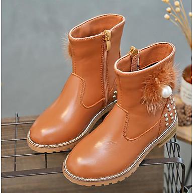 9ab92169970 Chica Zapatos Cuero Otoño   Invierno Botas de nieve Botas para Negro    Marrón   Rojo 6333959 2019 –  22.99
