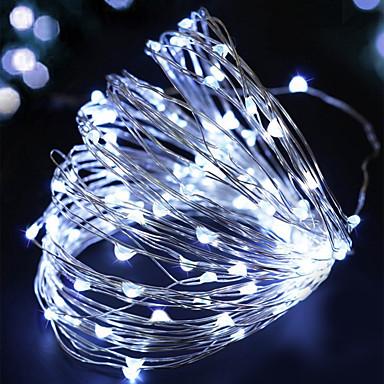 BRELONG® 2m Φώτα σε Κορδόνι 200 LEDs Μικροδιακόπτες (Dip) LED Κόκκινο / Κίτρινο / Ροζ Αδιάβροχη 1pc