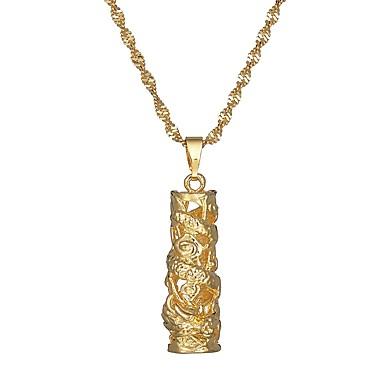 povoljno Modne ogrlice-Žene Kvačice za privjeske Twist Circle Azijski Etnikai Broš Jewelry Zlato Za Karneval Festival