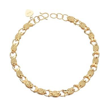 levne Dámské šperky-Dámské Řetězové & Ploché Náramky Zvíře Módní Měď Náramek šperky Zlatá Pro Denní Rande