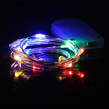 Hkv 1m Multicolor Led String Light Battery Copper Wire Fairy Holiday Lights Christmas Weeding Party Decoration 6339601 2019 1 89