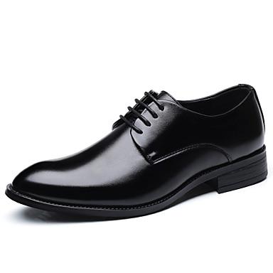 Ανδρικά Παπούτσια άνεσης Πανί Άνοιξη / Καλοκαίρι Δουλειά Oxfords Μαύρο / Καφέ / Πάρτι & Βραδινή Έξοδος