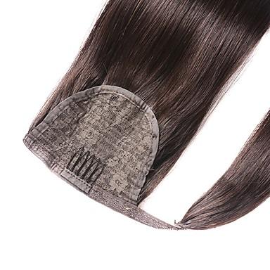 Αλογορουρές Φυσικά μαλλιά Κομμάτι μαλλιών Hair Extension Ίσιο / Ίσια