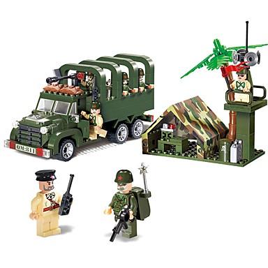 ENLIGHTEN Blocos de Construir Conjunto de construção de brinquedos Brinquedo Educativo 308 pcs Veículos Militar Caminhão compatível Legoing Non Toxic Veículo Caminhão Veículo Militar Para Meninos