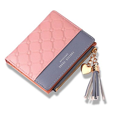 cheap 2020 Trends-Women's Tassel PU Leather Wallet Black / Red / Blushing Pink