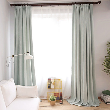 Grommet Top Double Pleat Pencil Curtain Modern Printed Solid Living Room Cotton Material Blackout Curtains Ds Home Decoration 6364185 2018