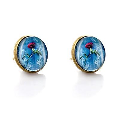 Γυναικεία Κουμπωτά Σκουλαρίκια Etnic Γλυκός Σκουλαρίκια Κοσμήματα Μπρονζέ Για Γενέθλια Δώρο 2pcs