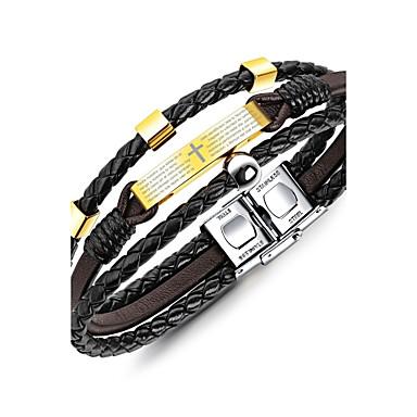 levne Pánské šperky-Pánské Široké náramky Náramek Geometrické Klasické Vintage Módní Elegantní Titanová ocel Náramek šperky Zlatá Pro Dar Ležérní
