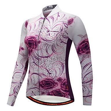 a70bc81c98fc CYCOBYCO Γυναικεία Μακρυμάνικο Φανέλα ποδηλασίας - Βυσσινί Ποδήλατο Αθλητική  μπλούζα Διατηρείτε Ζεστό Χειμώνας Αθλητισμός Πολυεστέρας Spandex Προβιά ...