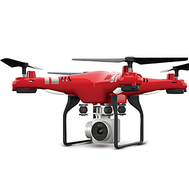 RC Ρομποτάκι FLYRC X52 RTF 4 Kανάλια 6 άξονα 2,4 G Με κάμερα HD 0.3MP 640P*480P Ελικόπτερο RC με τέσσερις έλικες Φώτα LED / Επιστροφή με ένα kουμπί / Auto-Απογείωση Ελικόπτερο RC με T / φτερουγίζω