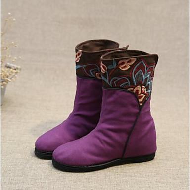 Zapatos morados de invierno casual para mujer yIURR