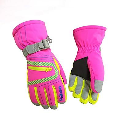 Χειμωνιάτικα Γάντια Ανδρικά Γυναικεία Αθλήματα Χιονιού Ολόκληρο το Δάχτυλο Χειμώνας Αδιάβροχη Αντιανεμικό Διατηρείτε Ζεστό Ίνα νάιλον Σκι