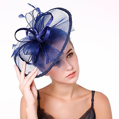 Τούλι / Φτερά / Δίχτυ Kentucky Derby Hat / Γοητευτικά / Λουλούδια με 1 Γάμου / Πάρτι / Βράδυ Headpiece